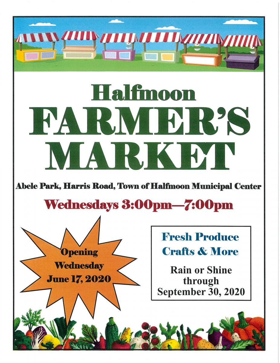 2020 FARMERS MARKET EVERY WEDNESDAY 3PM TO 7PM